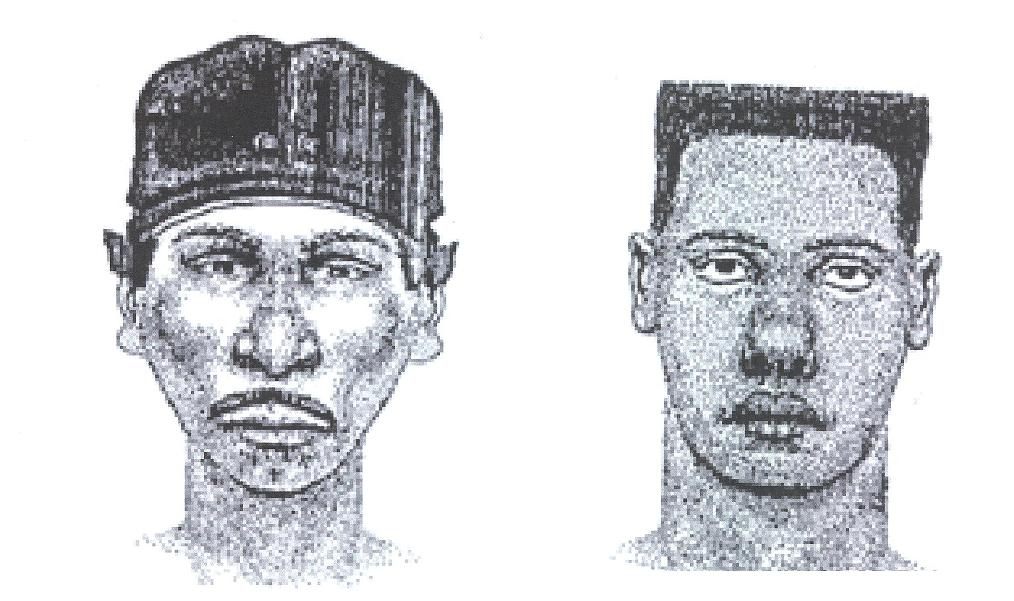 Sketch of Suspects in Porter Murder